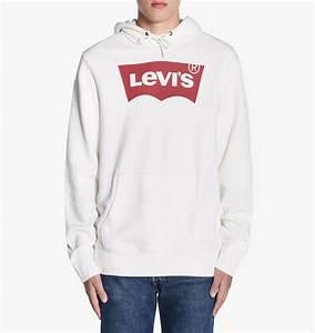 Levis hoodie barn vit