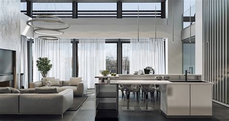luxury house design   gray color  brimming
