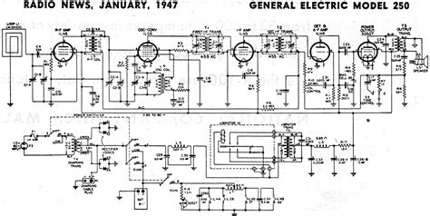 General Electric Wiring Schematic by General Electric Model 250 Schematic Parts List