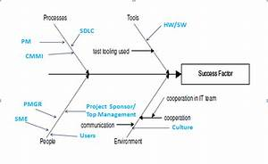 Fishbone Diagram Containing Project Factors Critical For