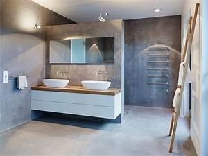 idee decoration salle de bain meubles blanc et bois With salle de bain bois et blanc