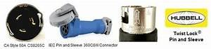 Cs8265c To 360c6w Power Cord Plug Adapter Ca Twist Lock