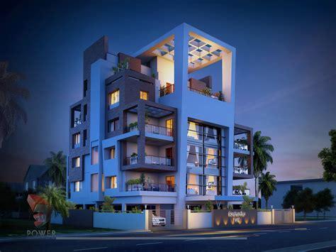 apartment elevation designing  architectural rendering services  apartment design  power