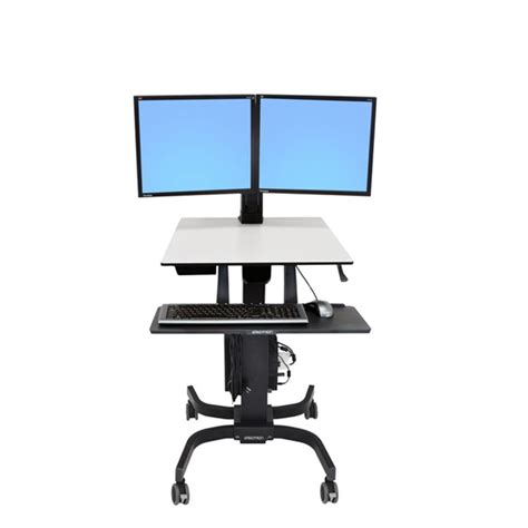 Ergotron Sit Stand Desk Manual by Ergotron Workfit C Dual Sit Stand Workstation Ergoport