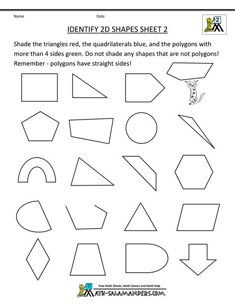 worksheet geometry shapes worksheet grass fedjp