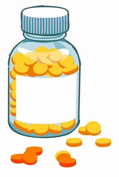 Bottle Pill Medication Clipart Pills Medicine Transparent