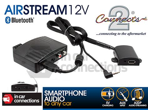 Connects2 Bluetooth Streaming Adapter Via Aux With Usb