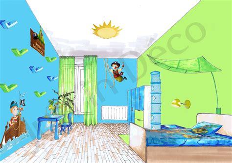 chambre pirate décoration chambre garçon pirate