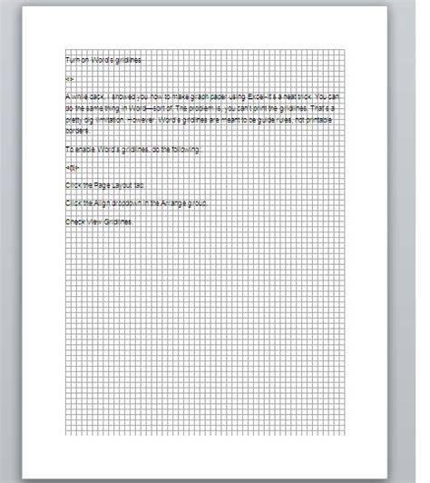 display gridlines   microsoft word document techrepublic