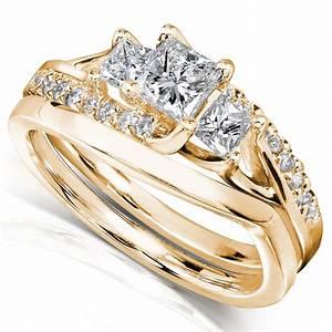 diamond me princess cut diamond bridal set ring 1 carat With kmart wedding rings on sale