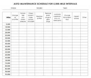 Auto Maintenance Schedule Spreadsheet by Auto Maintenance Schedule Template Sle