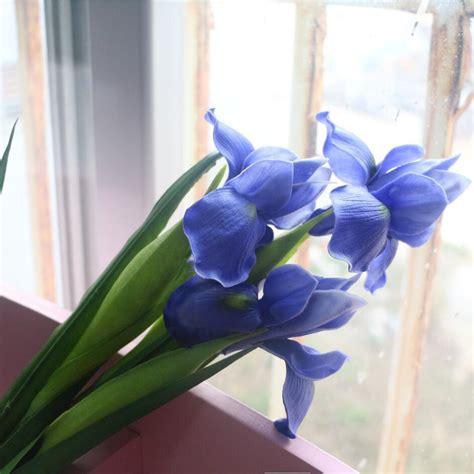 blue flower touch l blue iris artificial flower real touch flower iris for