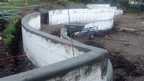 foam concrete forms for retaining walls landscaping walls icf s insulated concrete forms for