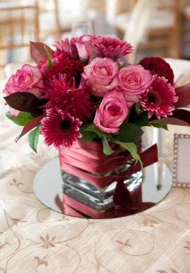 burgundy  pink centerpieces google search
