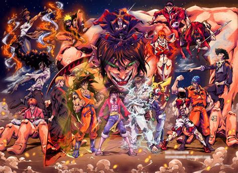All Anime In One Wallpaper - anime mix amv warriors 7000 subscriber special