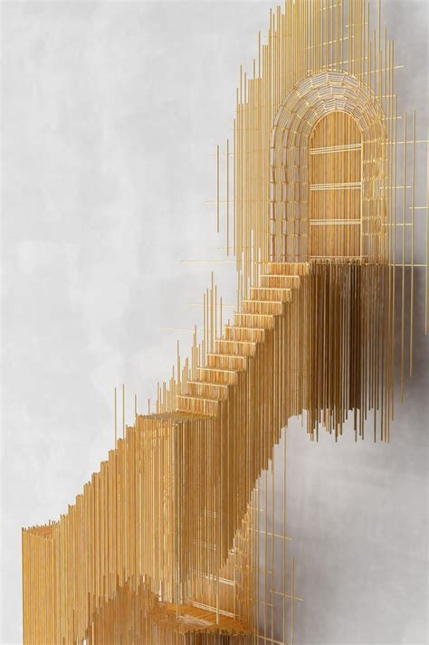 stairs stick sculpture  david moreno homeli