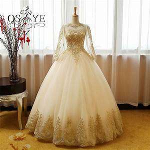 Popular champagne gold wedding dresses buy cheap champagne for Champagne gold wedding dress