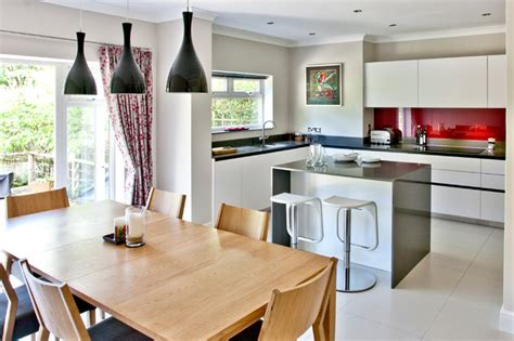 small space big kitchen contemporary dining room surrey by pyram uk