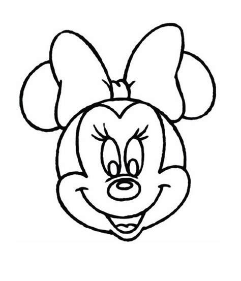 minnie mouse head coloring page   wear