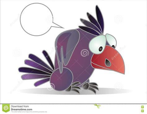 Cartoon Crow Royalty Free Stock Photos