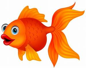 Goldfish clipart colored fish - Pencil and in color ...