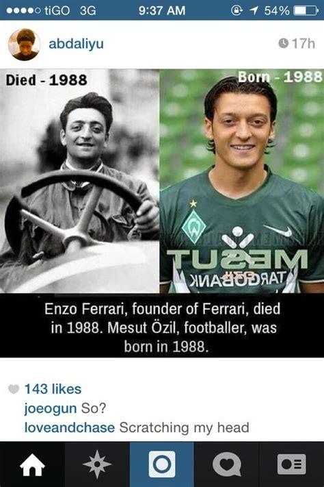 Enzo ferrari and mesut ozil could barely look more similar. Mesut Özil looks like Young Enzo Ferrari | Telusgh