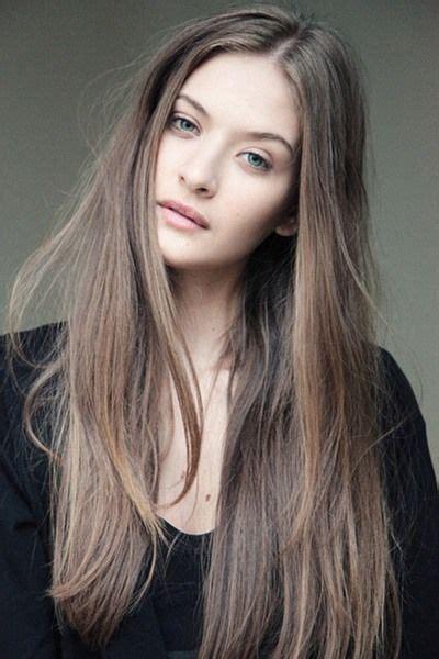 terrific hairstyles  long thin hair light ash