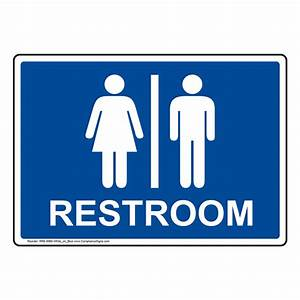 Restroom signs multi mount for Bathroom signa