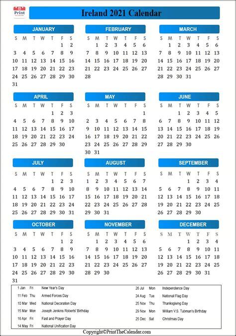 ireland holidays   calendar  ireland holidays