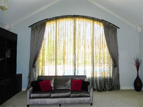 curtain rods arched windows arch pictures to pin on pinsdaddy