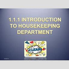 Chapter 1  Introduction Of Housekeeping Department