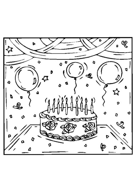 Verjaardags Kleurplaten Voor by Verjaardags Kleurplaat
