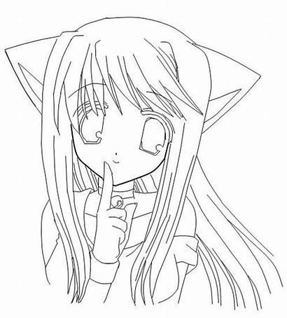 Anime Coloring Neko Dibujos Kawaii Colorear Dibujar