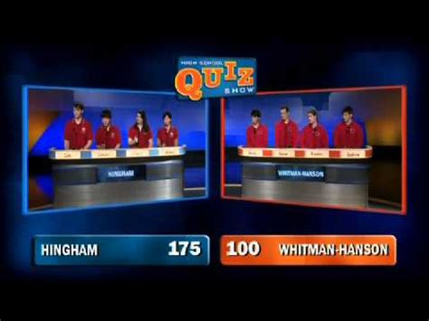 high school quiz show hingham  whitman hanson youtube