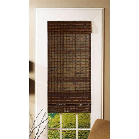 Radiance Bamboo Havana Roman Shade, Cocoa Window