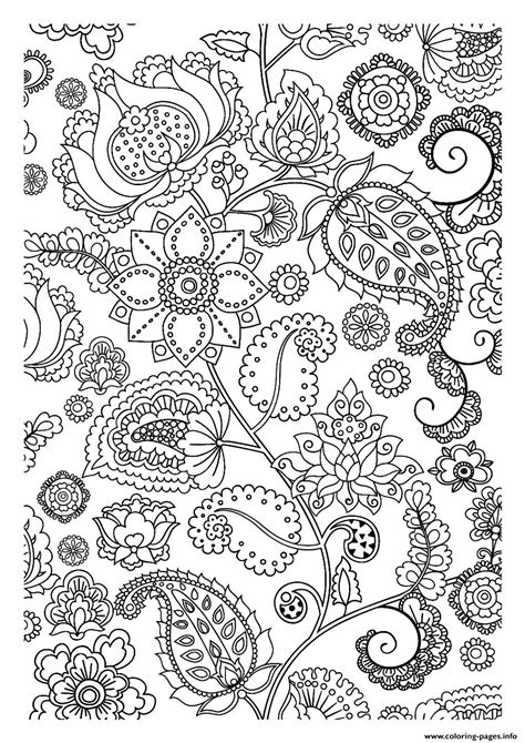 adult flowers zen coloring pages printable