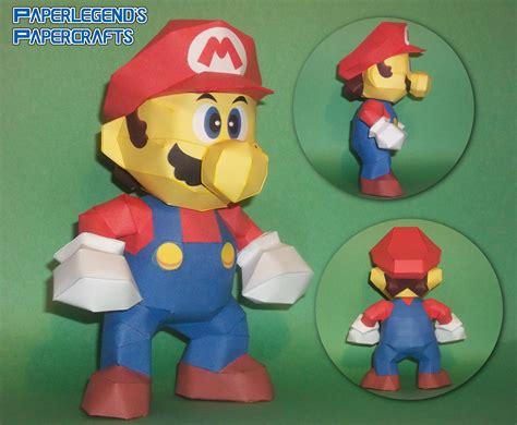 Paperlegends Papercrafts Super Mario 64 Mario