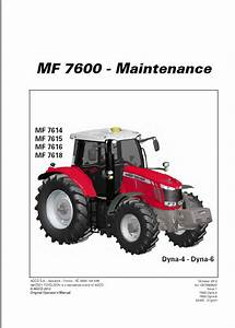 Massey Ferguson 7614  7415  7416  7418 Tractor Operation