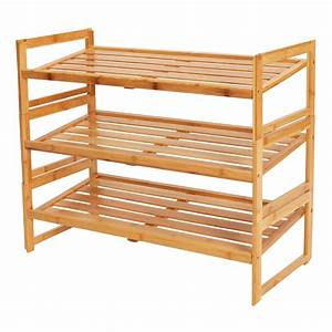 Better, Homes, U0026, Gardens, Bamboo, 3, Shelf, Shoe, Rack, -, Walmart, Com