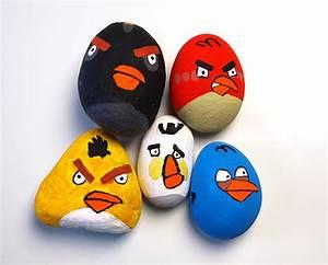 Basteln Mit Steinen : angry birds steine ~ Watch28wear.com Haus und Dekorationen