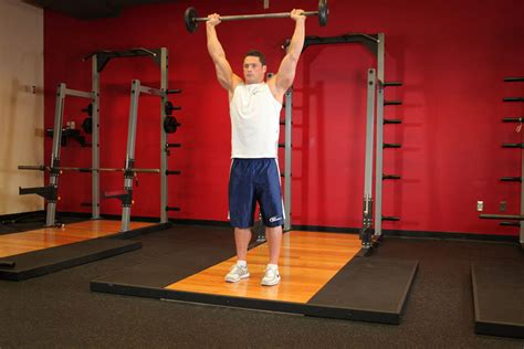 standing military press exercise guide  video
