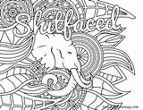 Coloring Swear Word Adult Pages Books Printable Vulgar Sheets Sweary Print Patterns Shitfaced Swearstressaway sketch template