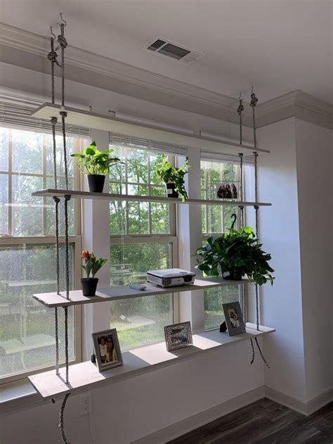 hanging plant shelf etsy plant shelves building