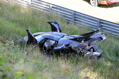 Nuremberg Track Record by Koenigsegg One 1 Chassis 107 Crashes At The Nurburgring