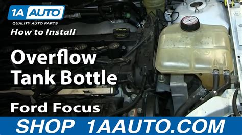 replace radiator overflow bottle   ford focus
