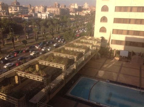 swimming pool and airport highway view picture of le meridien heliopolis cairo tripadvisor