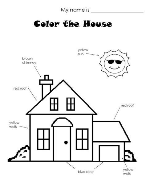 house worksheets  house worksheet house lesson