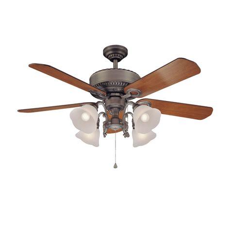 lowes harbor breeze fan shop harbor breeze 52 quot edenton aged pewter ceiling fan at