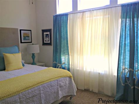 Yellow And Blue Master Bedroom by Master Bedroom Update Vintage Blue Yellow And White