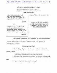 shelleys 7 19 2010 answer to 1st amended complaint With legal answer template